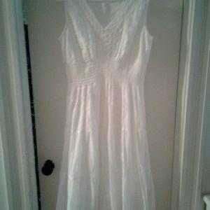 Women's Beautiful white cotton dress
